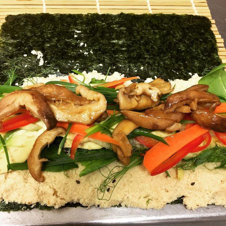 Making Raw Vegetarian Sushi today ..