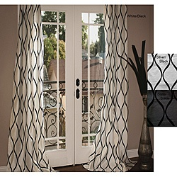 Black And White Graphic Curtain Panels 96