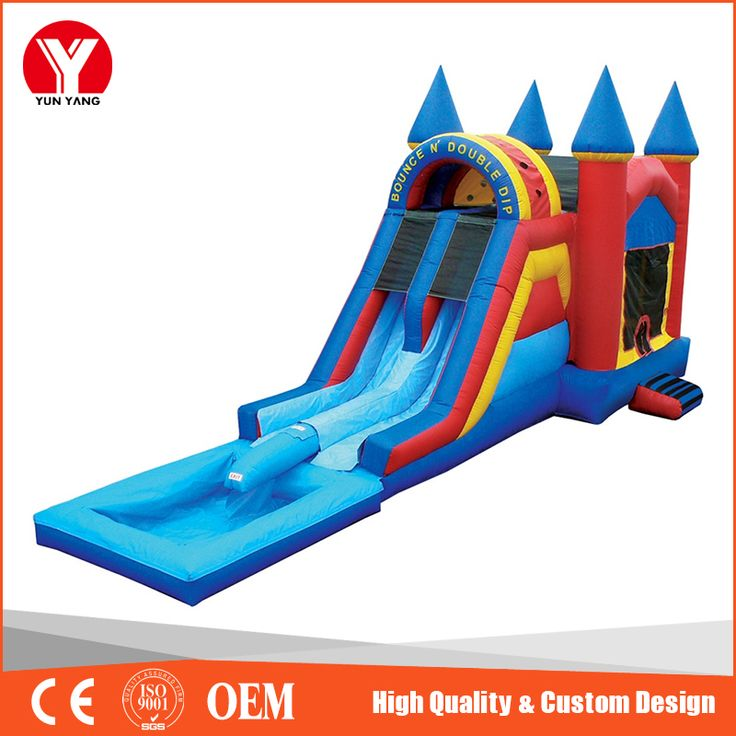 Inflatable Water Slide Pool Bouncy Castle: 1000+ Ideas About Inflatable Slide On Pinterest