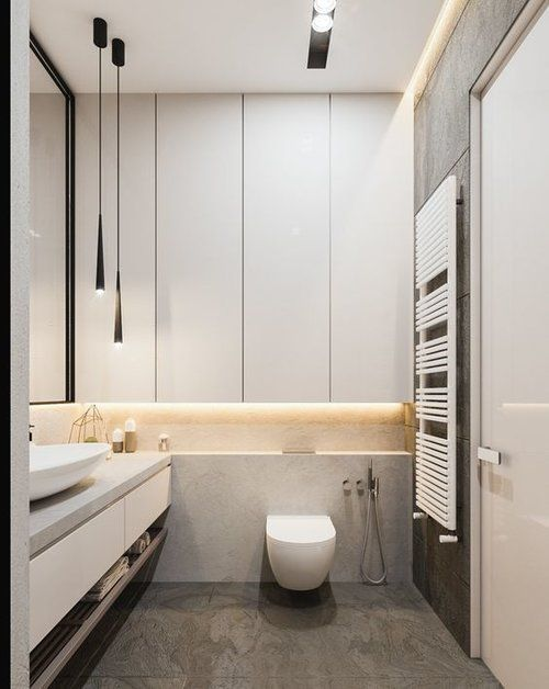 ¡Ideas de diseño minimalistas para el baño! Visita para obtener más inspiración relacionada con el baño … baños