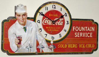Timeworks Coca Cola Soda Sign Clock CCSJS