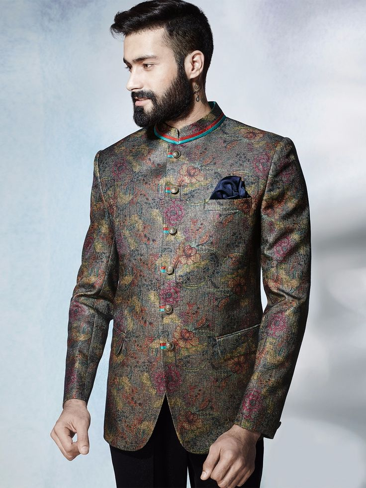 Shop Grey terry rayon classy jodhpuri suit online from G3fashion India. Brand - G3, Product code - G3-MCO1001, Price - 10395, Color - Grey, Fabric - Terry Rayon,