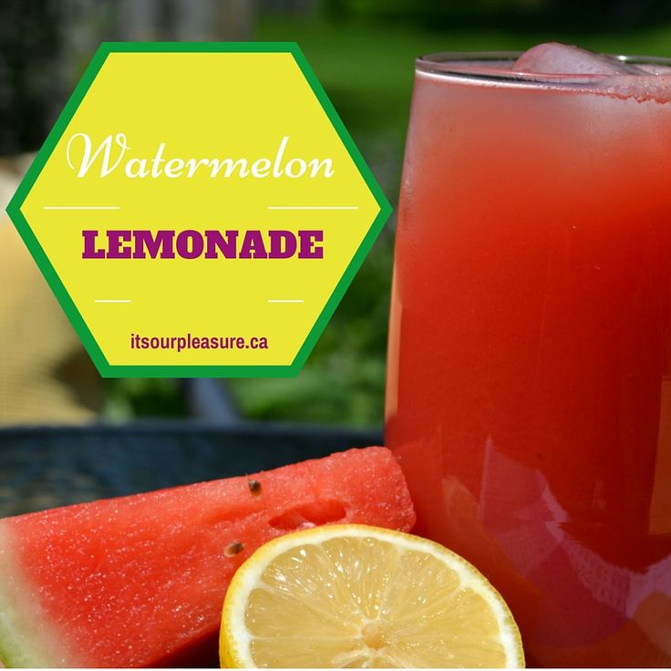 Great for the summer, this watermelon lemonade will quench your thirst!