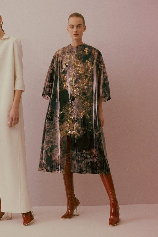 Painterly latex coat backstage at Christian Dior Haute Couture SS15. See more here: http://www.dazeddigital.com/fashion/article/23404/1/christian-dior-haute-couture-ss15
