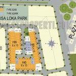 Site Plan Cluster Nusa Loka Park BSD.