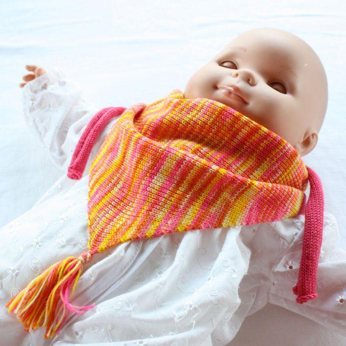 Babysmekke i ull - midtfelt med egenfarga garn