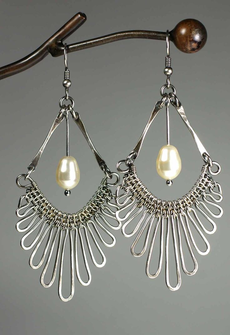 Gypsy Earrings With Kaska Firor Use Wireweaving, Wirewrapping And Simple