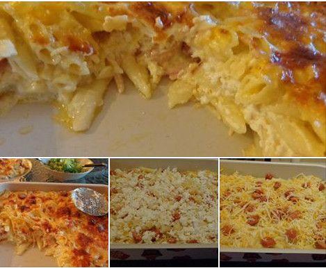 ΜΑΓΕΙΡΙΚΗ ΚΑΙ ΣΥΝΤΑΓΕΣ: Πένες με μίξ τυριών & λουκανικάκια στον φούρνο!