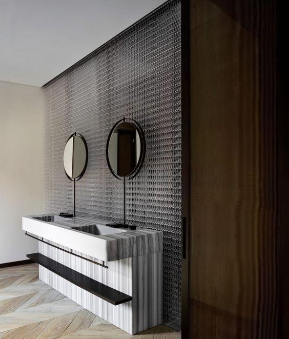 Elegant Bathroom for 2 #Bathroom #BathroomDesign