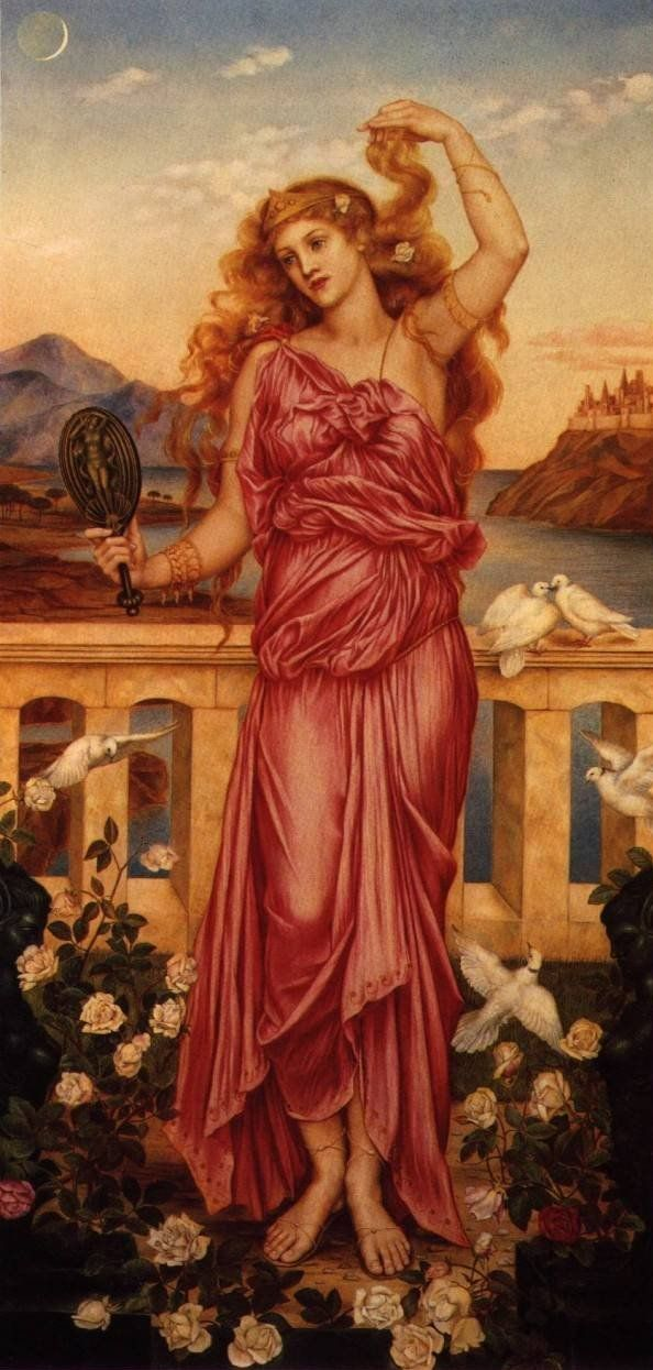 Mythological Helena, most beautiful of women and ultimate price of Troy, was born from an egg laid by her mother Leda. Leda had been impregnated by a handsome swan (the god Zeus in disguise) - a feat perhaps assisted by the fact that swans are among the very few birds species (less than 3%) whose males possess a penis. Picture: Helen of Troy by Evelyn de Morgan (1898, London)