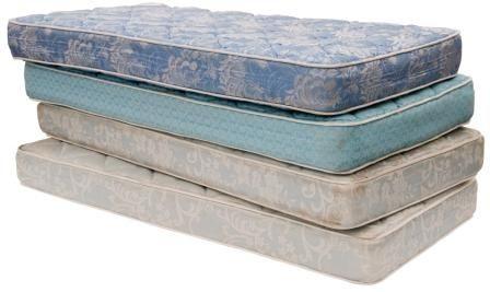 oude matras gebruken voor grote bouwblokken