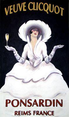 Vintage Veuve Clicquot poster - Reims <3