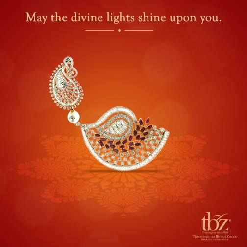 We wish you a Happy #Diwali and a Prosperous New Year! #TBZ #Jewellery #FestivalofLights #FestiveSeason #Gold