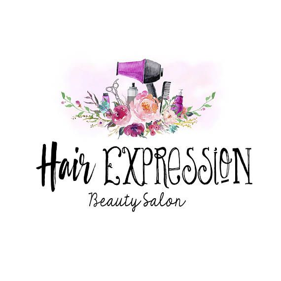 Hair Salon Logo Beauty Salon Logo Watercolor Beauty Logo Com