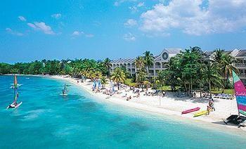 Arial View of Beach :: Sandals Beach Resort & Spa  - Negril :: Jamaica