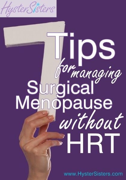 I am unable to use HRT, so how can I manage surgical menopause?