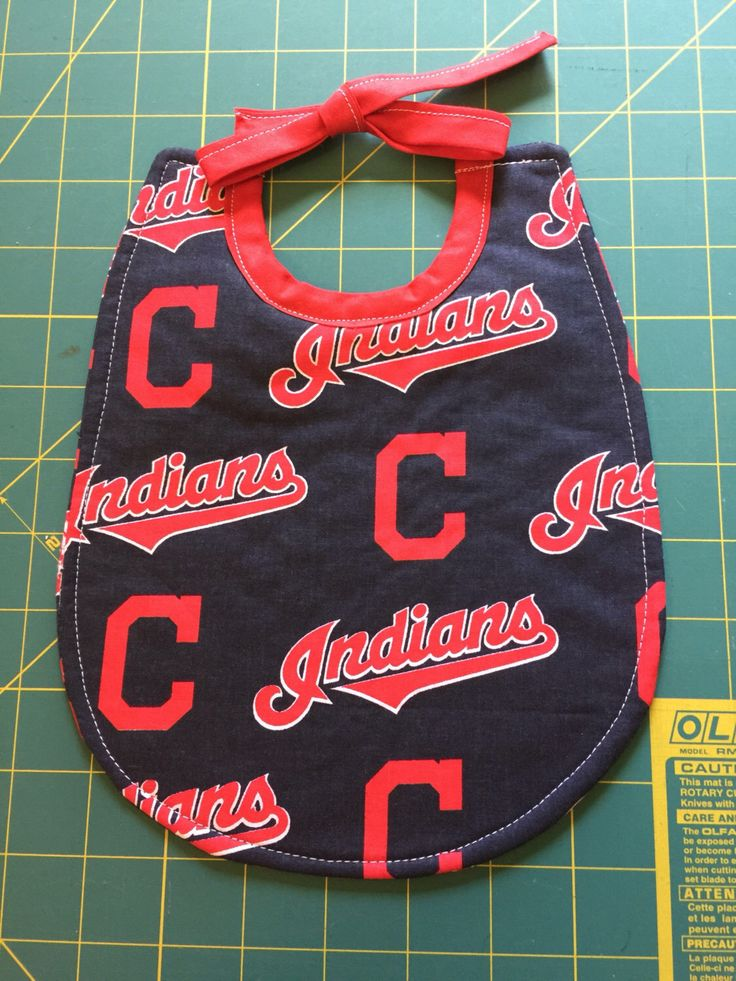 A personal favorite from my Etsy shop https://www.etsy.com/listing/449864812/baby-bib-cleveland-indians-baseball-team