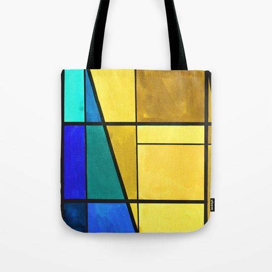 Abstract, modern, pattern, geometric, colorful Tote Bag