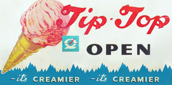 TIP TOP Classic  60's sign