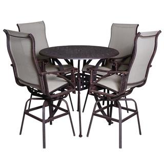 Boca 5-piece Beige Indoor/ Outdoor Pub Table Set