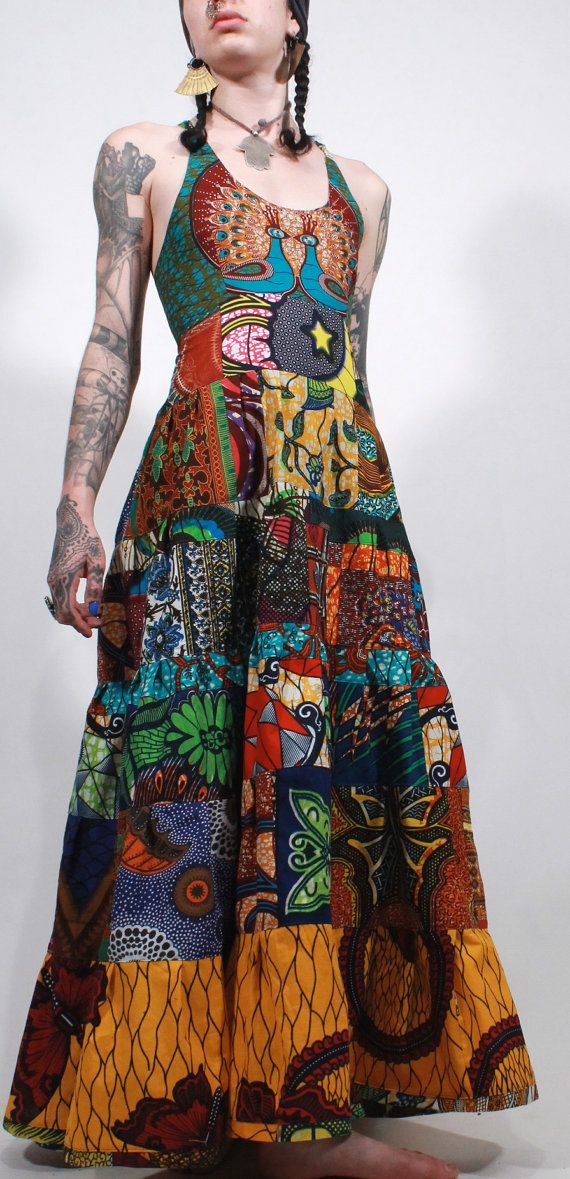 African wax print tribal ethnic gypsy   ChopstixWaits, $196.00
