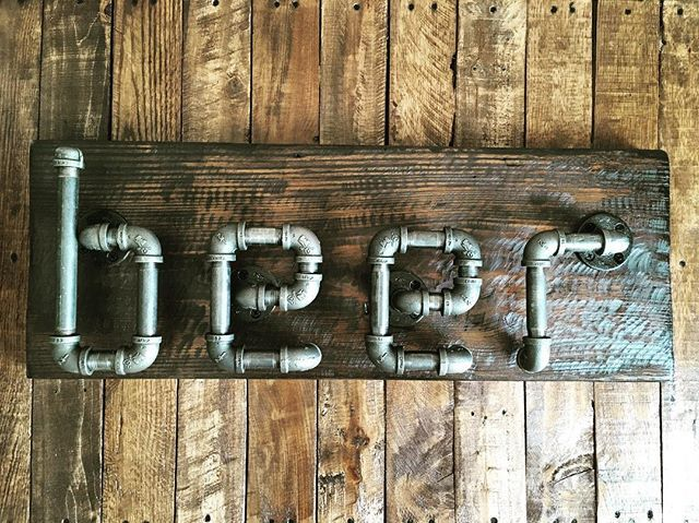 Industrial Beer Sign on reclaimed wood. Available in my Etsy shop.  #industrial #industrialdesign #industrialdecor #industrialstyle #industrialart #beer #beerart #beers #beerstagram #wood #woodworking #woodart #woodwork #handmade #madebyme #madeinusa #handcrafted #pipefurniture #woodandmetal #woodandsteel #metalandwood #mancave #beerlover #reclaimedwood #reclaimed #wallart #instagramtennessee #create #creative #dowoodworking