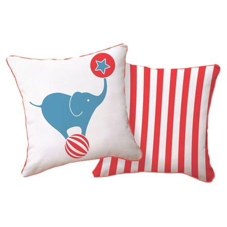 Circus Pillow - $30.95  This would be so cute for a circus themed room!