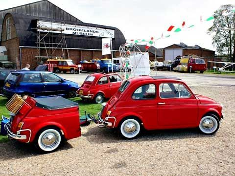 Fiat 500 with with Trailer