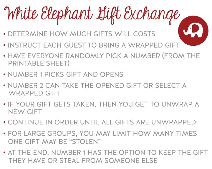 white elephant printables #christmas