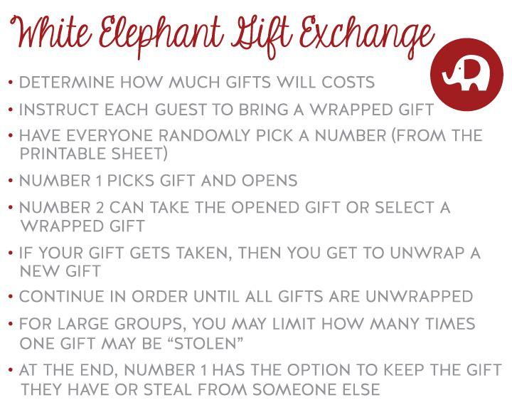white elephant printables #christmas