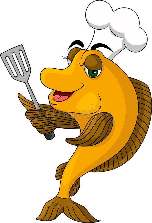 Funny Cartoon Cook Fish Vector Illustration Of Cartoon Cook Fish Ad Cook Cartoon Funny Illustration V Cartoon Fish Fish Vector Funny Illustration