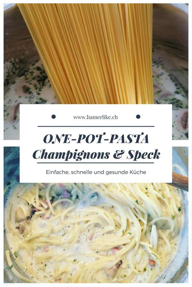 Muss es bei Euch mal wieder schnell gehen bei Mittagessen? Und ihr liebt Spaghetti? Wie wäre es mit einer One-Pot-Pasta? Einfach und schnell zubereitet - Kinder werden es lieben: