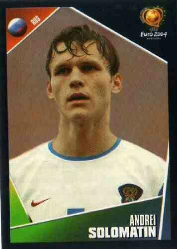 Andrei Solomatin of Russia. Euro 2004 card.