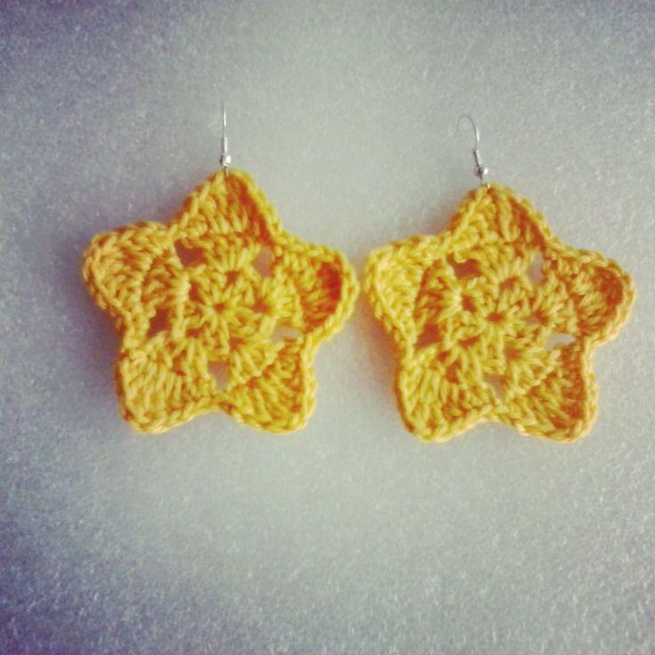 Stella, stellina, la notte si avvicina...#orecchini #stella #uncinetto #crochet