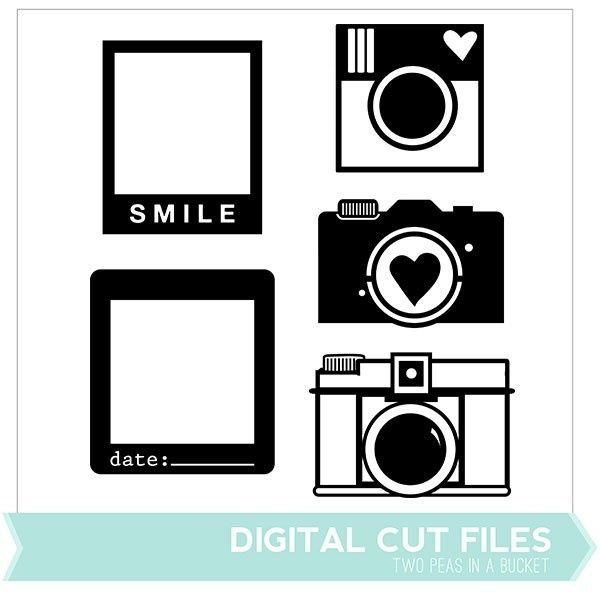 Cameras  Frames Digital Cut Files - Available in May only - Two Peas in a Bucket