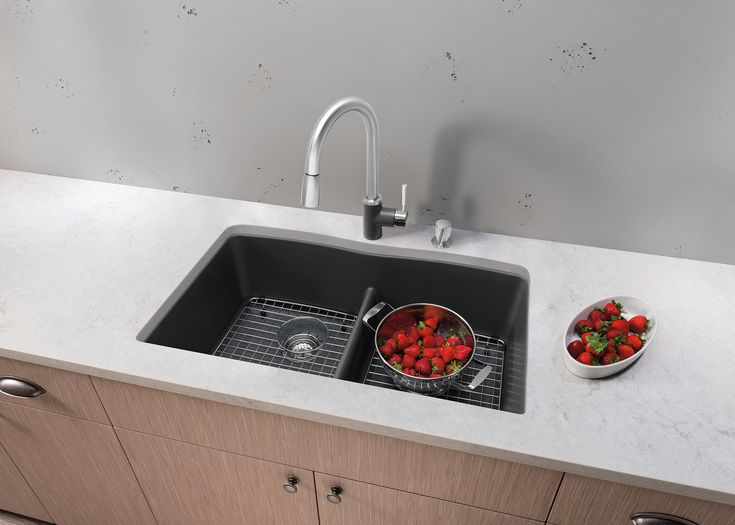 Oversized Sinks Kitchen : lower divide divide sink diamondtm equal equal double bowl design sink ...