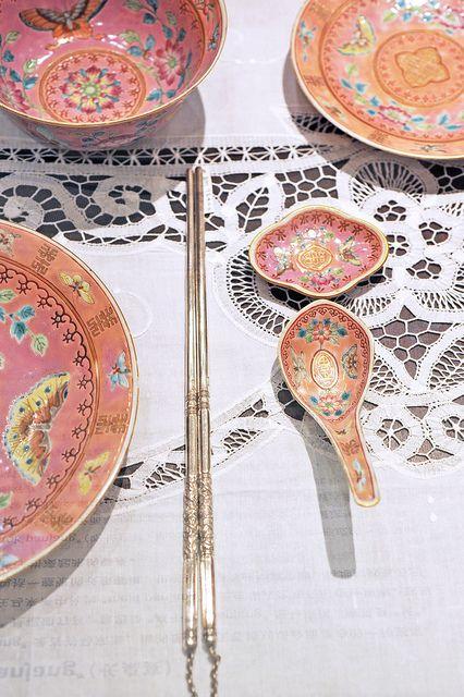Nyonya porcelain tableware...