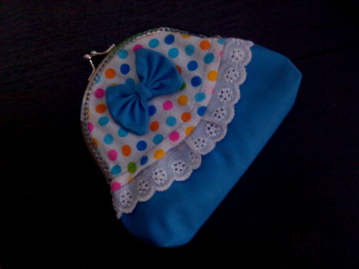 my blue bow purse #metalframe_coinpurse #kisslock_coinpurse #dompet_behel