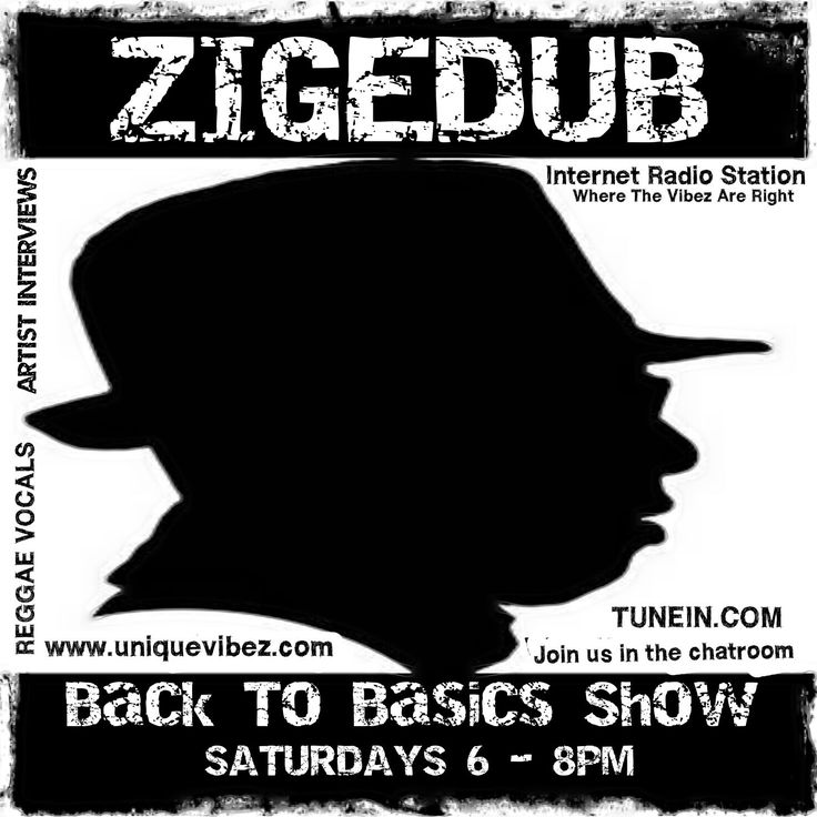 Join ZigeDub every Saturday from 6-8pm UK time for his Back to Basics Show playing 'real authentic reggae music', reggae vocals, reggae from other countries as well as reggae artist interviews.