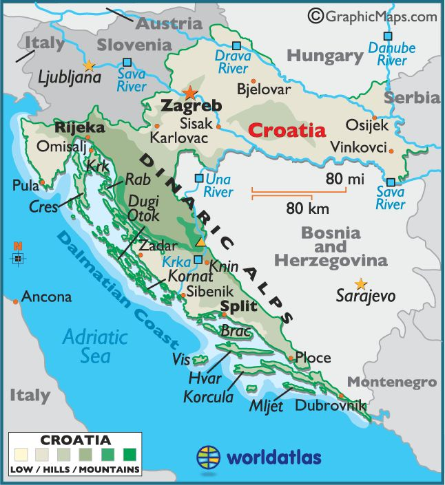 18 best mapas images on pinterest maps antique maps and cartography croatia map geography of croatia map of croatia gumiabroncs Images