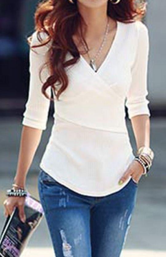 stylish v-neck top