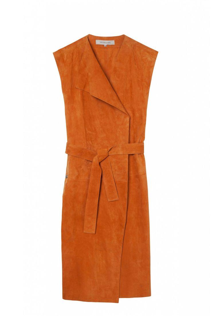 Robe orange brulée, anais | gerard darel