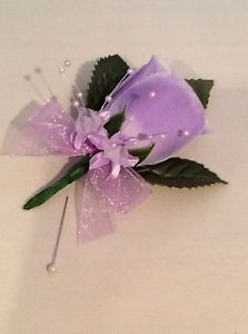 Lilac Silk Rose Buttonholes Weddings Artificial Single Flower | eBay