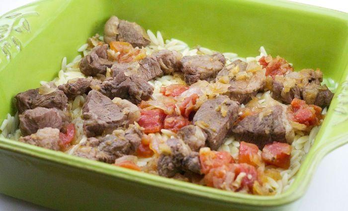 Greek Lamb Stew with Orzo Pasta Recipe-| Greek food #Youvetsi #lamb #orzo #greek #greekfood #greece #food #foodporn #nomnom #mediterranean