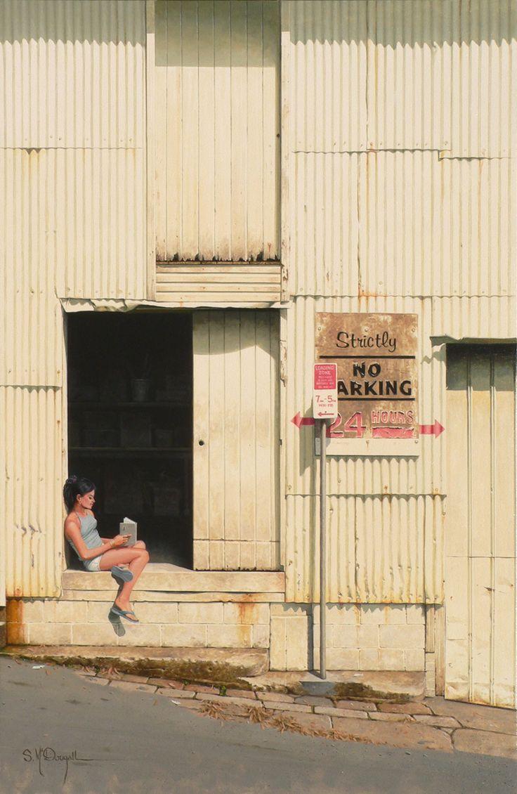 Strictly no parking - Paddington. Brisbane 90cm x 60cm