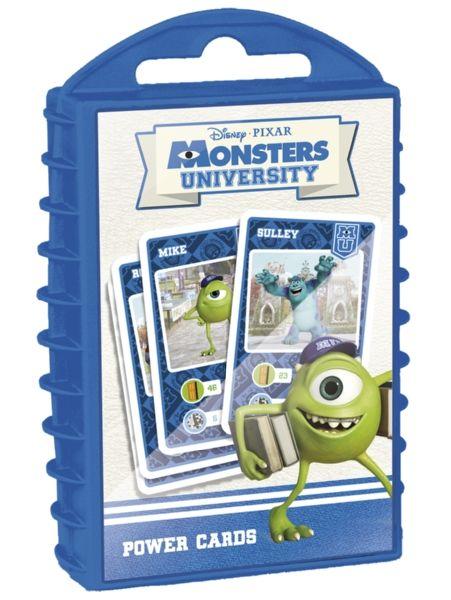 Monsterit-yliopisto Power Cards -korttipeli on kuvitettu Monsterit-yliopisto-elokuvan hulvattomilla hahmoilla, eikä pelistä puutu jännitystä! Tämän hienompaa korttipeliä ei löydä hakemallakaan! Kenen kortissa on kovimmat arvot, ja kuka tekee yllätyspaluun pelin tiimellykseen?