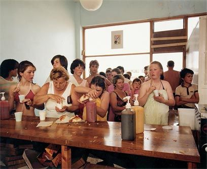 The witty and insightful Martin Parr. He is coming to the AGO in October. Will be there with bells on!