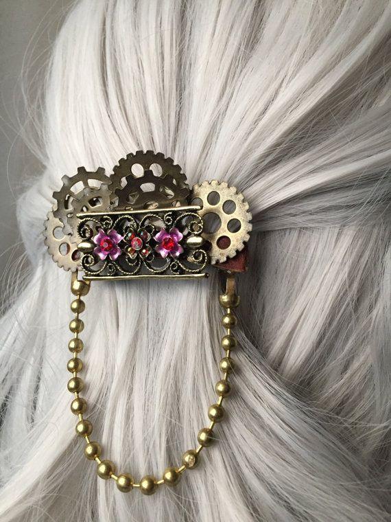 Victorian Wedding Hair Accessories  Steampunk by ArcanumByAerrowae