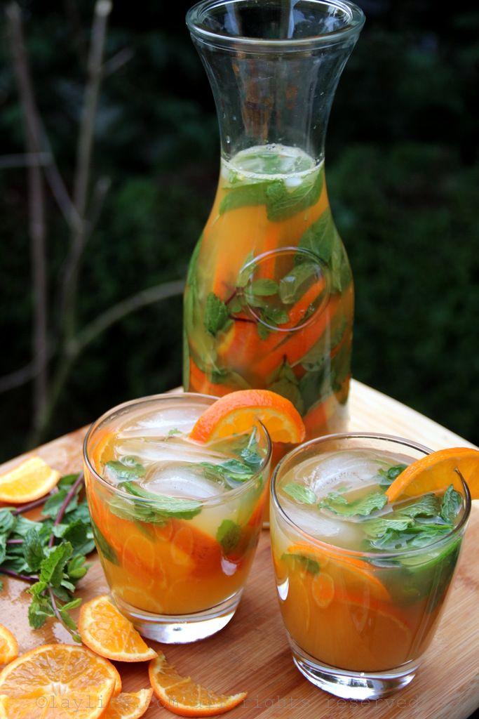 Mandarin, tangerine or clementine mojitos.