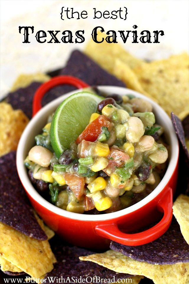 THE BEST Texas Caviar! You have to try this- it's a HUGE crowd pleaser!! Butter with a Side of Bread #recipe
